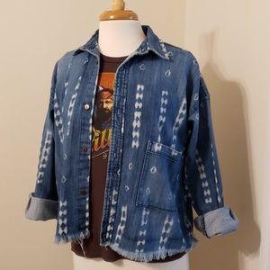 Current Elliot Aztec Button Down Jacket, Shirt